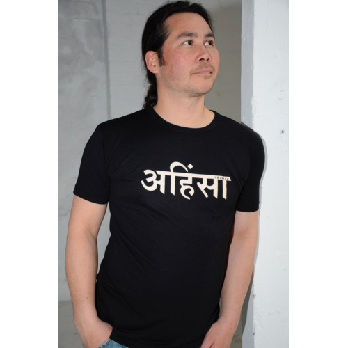 Mens Ahimsa bamboo T-shirt - black £23